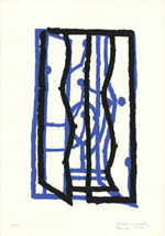 "BREHM Dietmar  ""Fenster"", 1997  silkscreen 2 colours   70 x 50 cm     please click the image to enlarge"