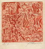 "DAMISCH Gunter  ""Die Reise auf die Palmenkrone"", 1982  portfolio with etchings<br />edition: 10 pieces  size of the plate 20 x 17 cm sheet size 45 x 38,5 cm    please click the image to enlarge"