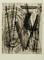 HARTUNG Hans  untitled  etching / handmade paper (62 / 250)  size of the plate 41 x 32 cm     please click the image to enlarge