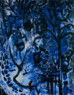 "SEIBETSEDER Wilhelm  from the series ""Blue Garden"", 1996  acrylic / Zellstoff   140 x 120 cm     please click the image to enlarge"